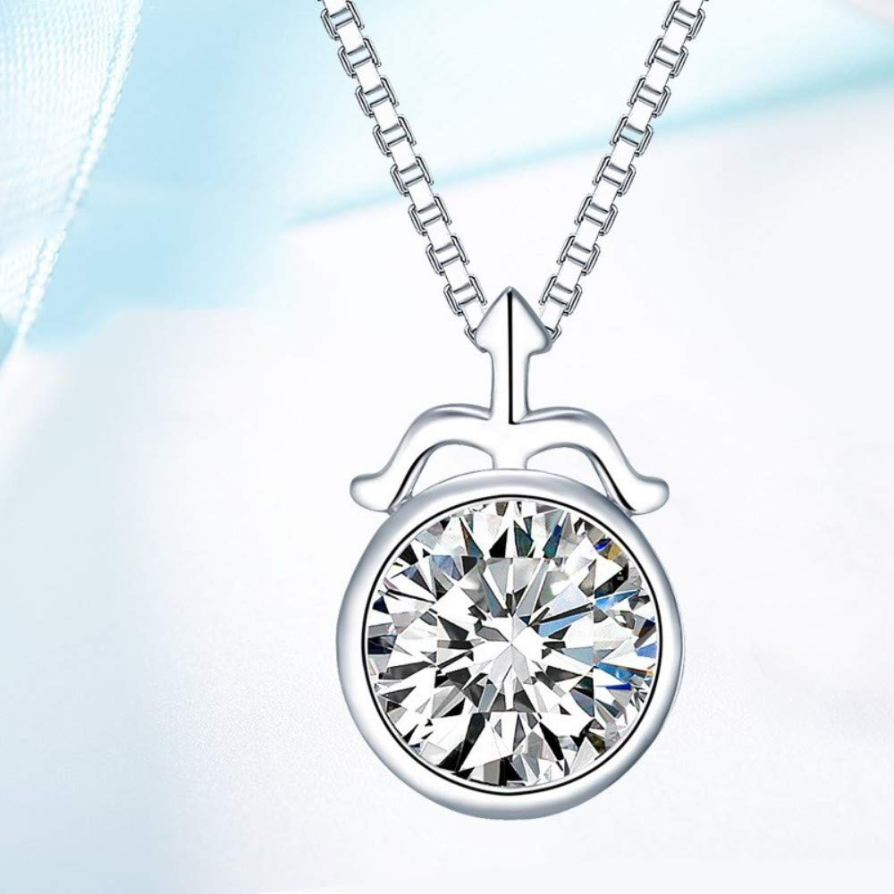 QWERST女性ネックレススターリング星座ペンダントファッションシンプルなエレガントな絶妙なチャームネックレス最高の贈り物   B07MSGX4MG