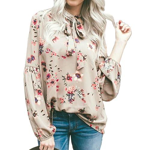 Vin beauty wlgreatsp de Las Mujeres Impresión de Manga Larga Camisa de Encaje