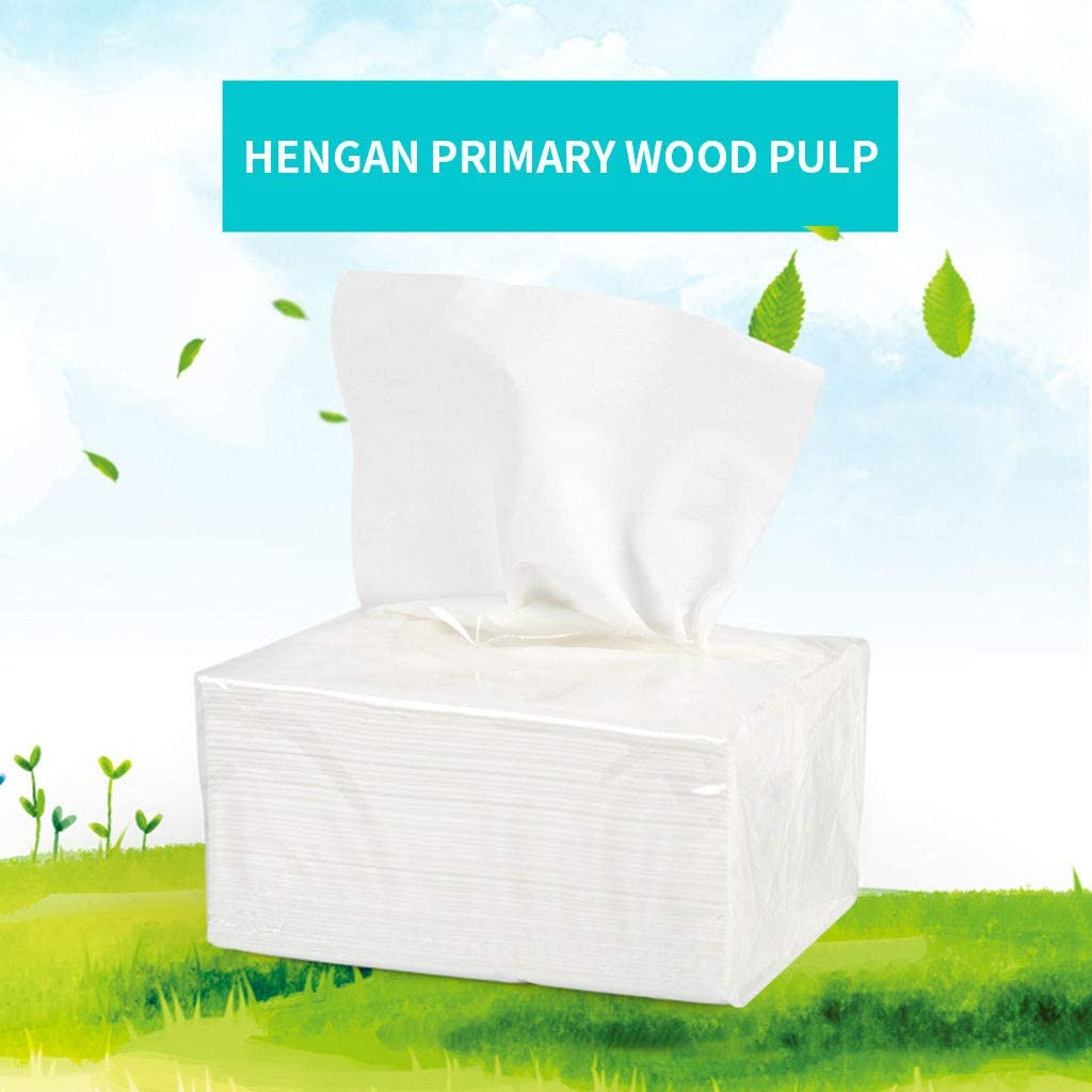 Hurrybuy 8PCs Tissue Paper,White Toilet Paper,Household Hand Paper,Soft Skin-Friendly Paper for Bathroom Kitchen