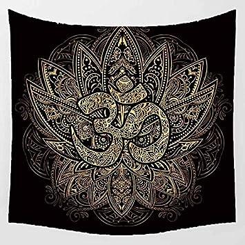 Tapisserie Murale Indian Hippie Taille Grande Tapestry Tapis de Plage Tenture Wall Hanging Symbole Om Indien Bohemian Chambre Bedspread Beach Sheet Maison D/écorer H1591,Polyester,150x100cm