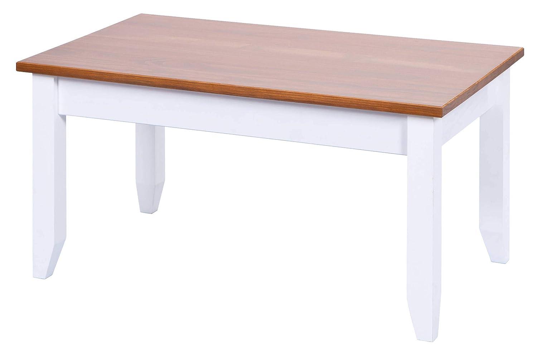H24living Couchtisch Massiv Beistelltisch Sofatisch Holz Tisch
