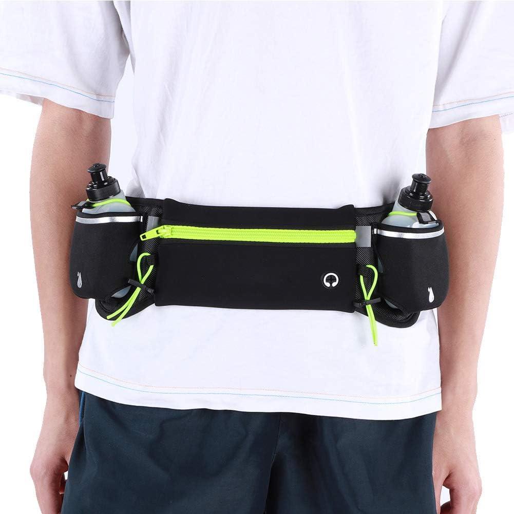 Antideslizante Juego de Botella ri/ñonera Impermeable cintur/ón para Correr con Botella de Agua Deportes al Aire Libre Keenso Ri/ñonera Deportiva