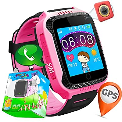 "1.44""GPS Tracker Smart Watch Phone for Kids with SIM Solt Pedometer SOS Camera Smart Bracelet Smartwatch Boys Girls Children Halloween Cybery Monday Holiday Fitness Tracker Toy"