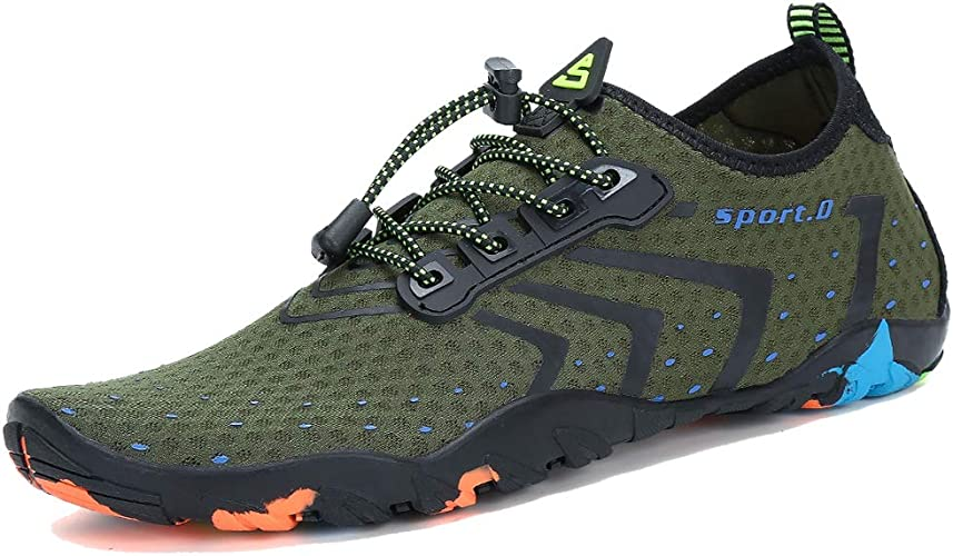 Mens Water Shoes Barefoot Aqua Socks Beach Quick-Dry Surf Swim  Athletic Sport