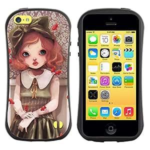 Pulsar iFace Series Tpu silicona Carcasa Funda Case para Apple iPhone 5C , Cute Girl Painting