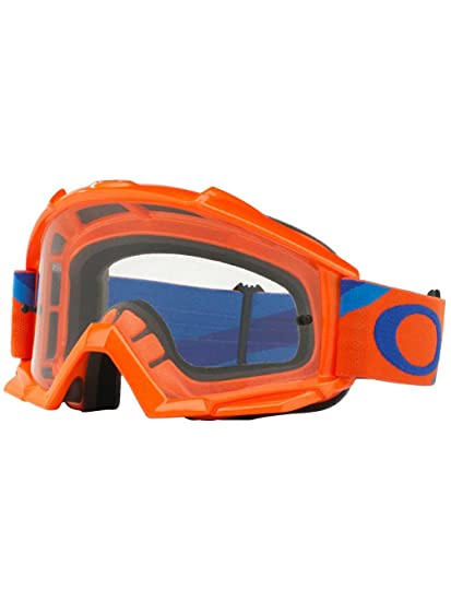 ca28f9b1fff1 Amazon.com  Oakley Proven MX Heritage Racer Men s Dirt Off-Road Motorcycle Goggles  Eyewear - Orange Blue Clear   One Size Fits All  Automotive