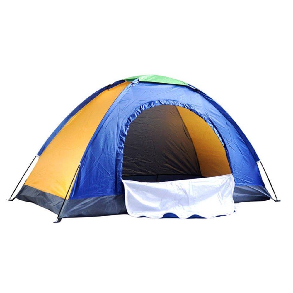 Yzibei Haltbar Outdoor Camping Single-Layer Multiplayer Zelt einfaches Geschenk Werbung Zelt blau gelb