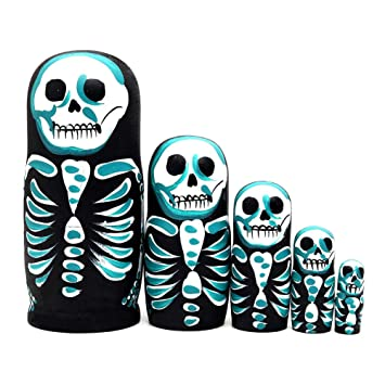 discountstore145 Russian Nesting Dolls Stacking Nested Handmade Toys for Children Kids Christmas Holiday Wishing Gift One Color