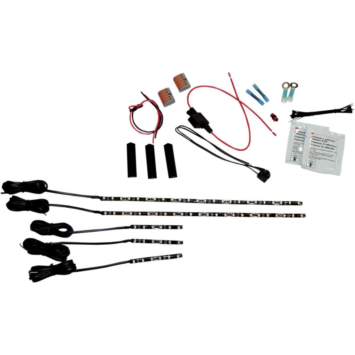 Custom Dynamics MagixFLEX LED Engine Kit for Sportbikes - Red MFSB1RED