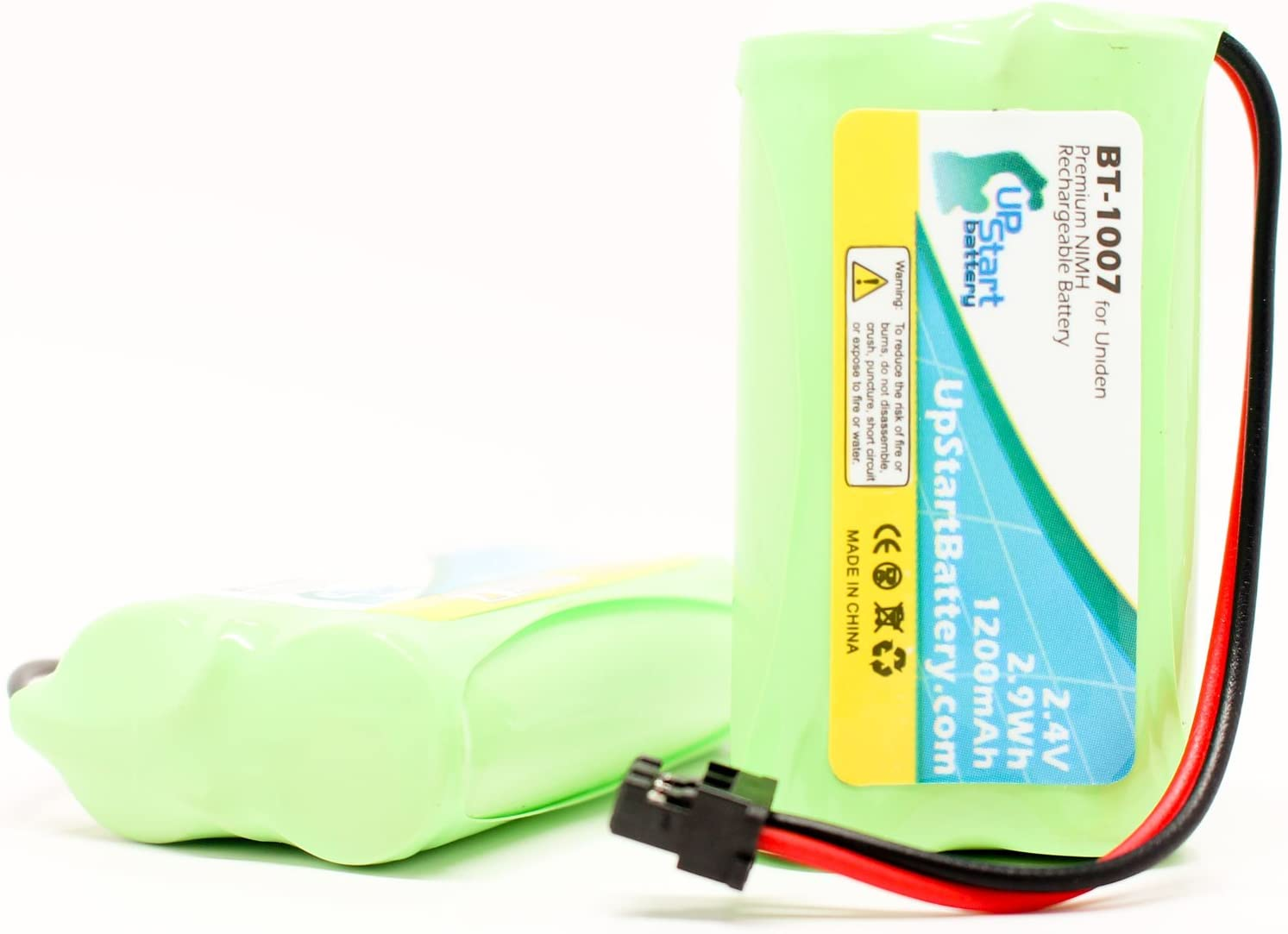 2 Pack Replacement for Uniden EZAI-2997 Battery Compatible with Uniden BT-1007 Cordless Phone Battery 1200mAh 2.4V NI-MH