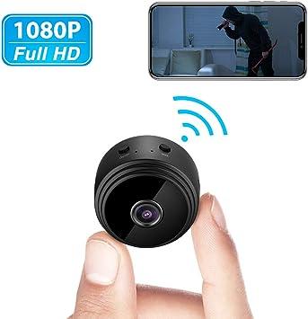 Noir -YX 01 Mini Cam/éra QZT Mini Cam/éra Espion sans Fil WiFi IP Cam/éra HD 1080P Vision Nocturne Camera Espion pour Maison Exterieure