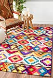 Tribal Rug Geometric Soft Southwestern Tribal Diamonds Area Rug