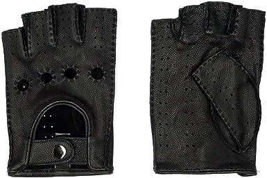 Nappaglo Homme Daim Cuir gants conduite 100/% peau de daim sans doigts moto cyclisme riding cadeau