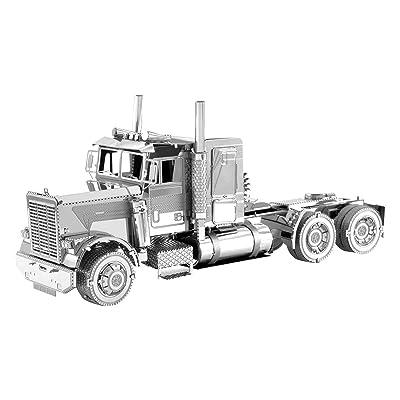 Fascinations Metal Earth Freightliner Long Nose Truck 3D Metal Model Kit: Toys & Games