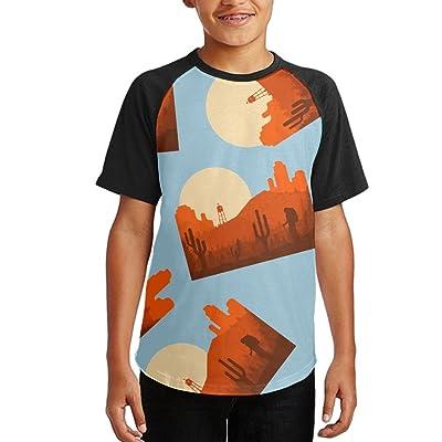Hiking Colortone Youth Short Sleeves Raglan Print Baseball T-Shirts Tops