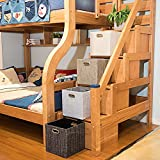 Foldable Storage Bins Boxes Cubes Container Organizer Baskets Fabric Drawers for Bedroom, Closet, Toys,Thick Cloth with Shimmer,11''×11'', 4pcs, Sliver Grey