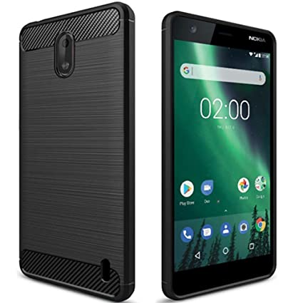 newest a3d97 1c1c6 Clorox Silicon Soft Rubber Back Cover for Nokia 2 (Black)