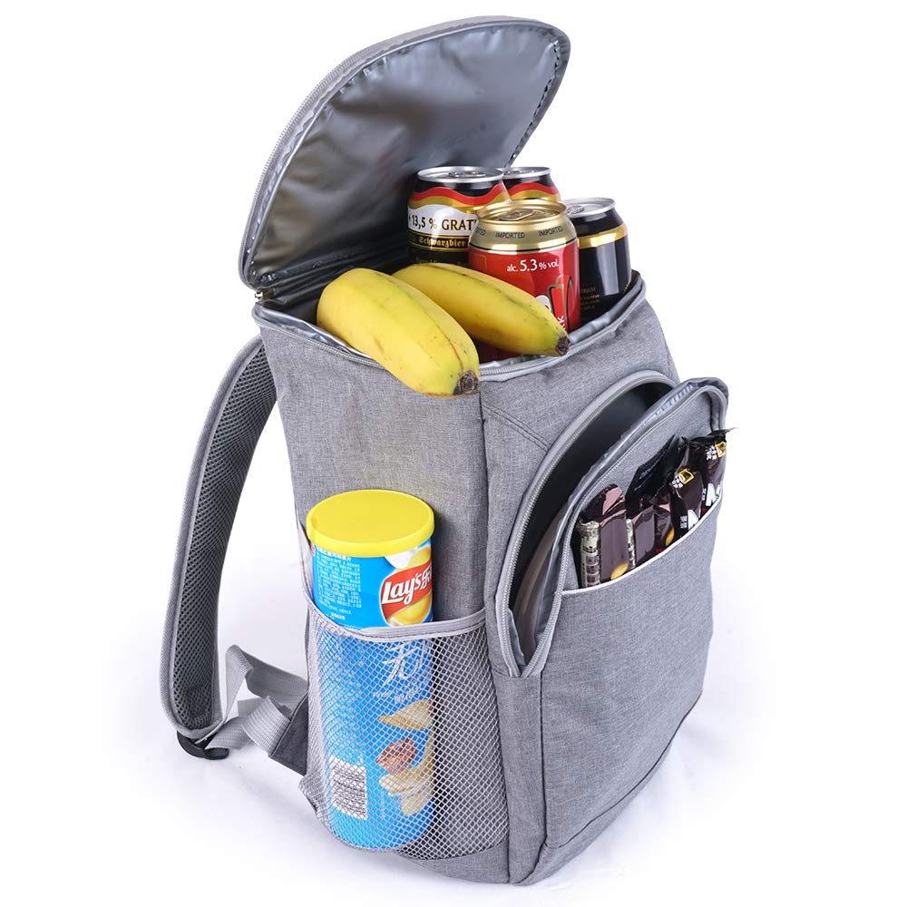 Cooler Backpack Insulated Waterproof, Leak Proof, Leakproof, Small Grey, for Men Women Day Bag