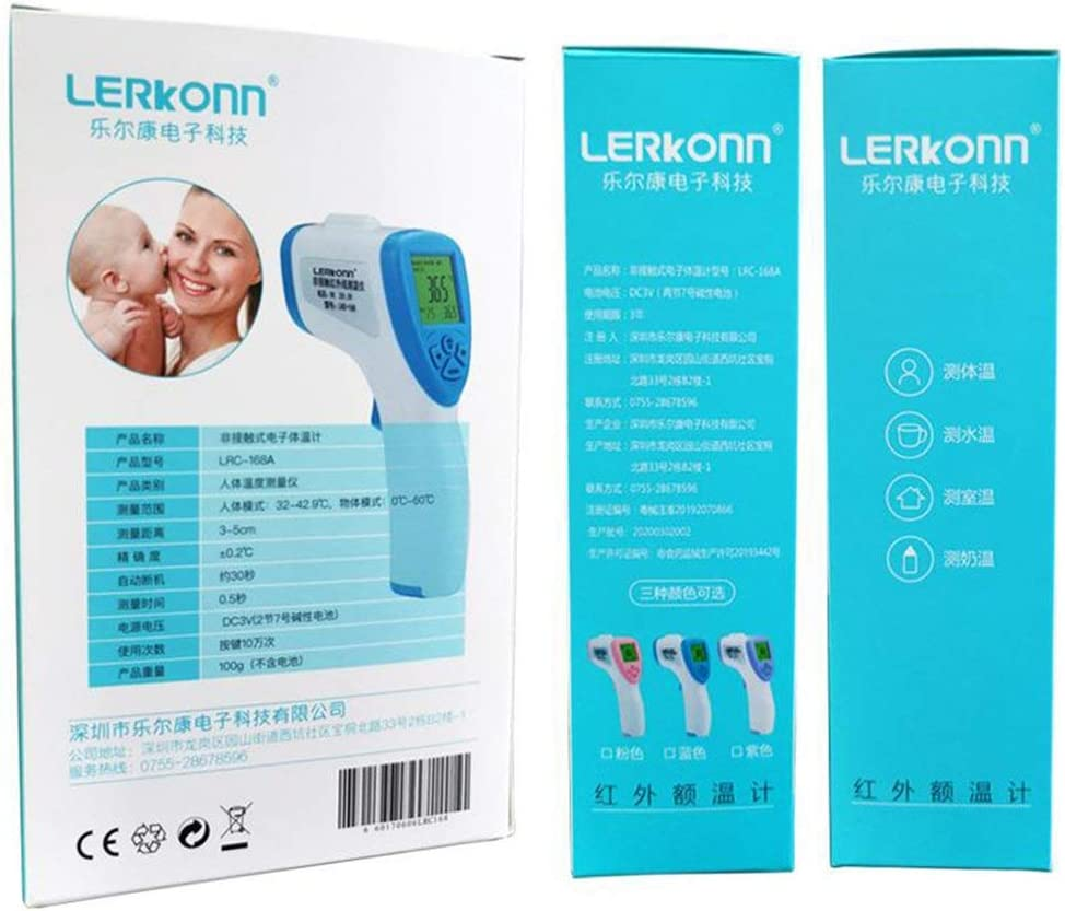 Infrarot Baby Erwachsene Stirn Thermometer Ber/ührungslose Body Ohr und Stirn Pr/äzision Thermometer Robertanw Digital Thermometer