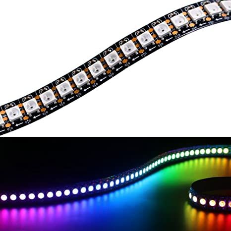 Cadena de luces LED Matrix WS2812B tira LED de 1 m, 144 LEDs/M
