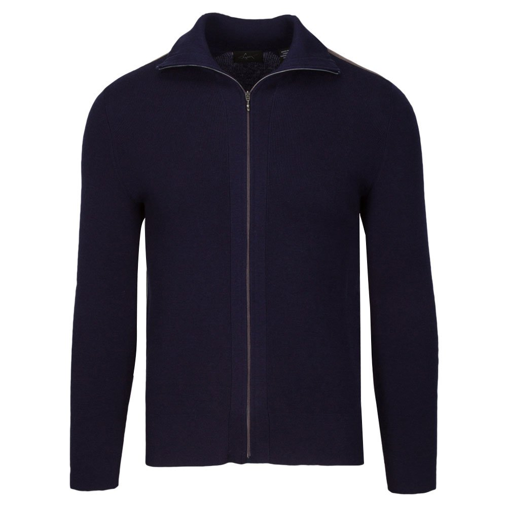 Greg Norman Shade Longsleeve Full Zip Golf Sweater 2018 Dark Night Heather Large