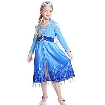 HOMELEX Deluxe Princess Dress Costume for Girl Cosplay Halloween Party Dresses Prom Ball Gown: Clothing