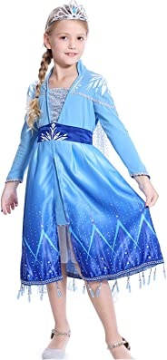 HOMELEX Deluxe Princess Dress Costume for Girl Cosplay Halloween Party Dresses Prom Ball Gown