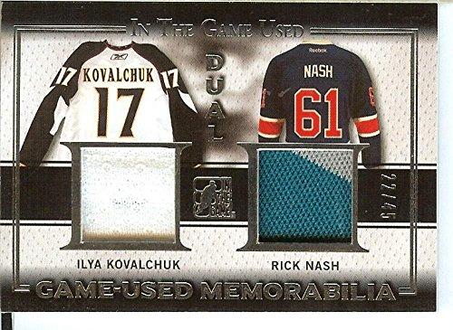 2016-17 In The Game Used Hockey Dual Game Used Jersey #GU-14 Ilya Kovalchuk/Rick Nash MEM 22/45 from 2016-17 In The Game Used Hockey Dual Game Used Jersey #GU-14 Ilya Kovalchuk/Rick Nash MEM 22/45