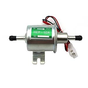 Camecho eléctrica bomba de combustible HEP-02A baja presión 12V ATV Agrícola Para Automóvil (plata)