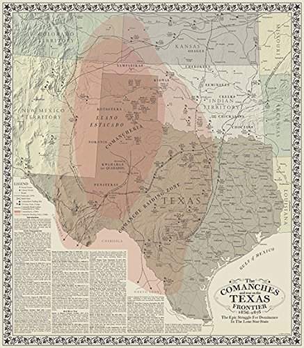 The Comanches and Texas by Texas Map Store