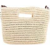 Bronze Times (TM) New Fashion Premium Straw Weave Handwork Handbag Crossbody Bag