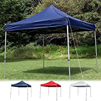 Sunnydaze Commercial Grade Heavy-Duty Aluminum Straight Leg Quick-Up Instant Canopy Event Shelter, 10 x 10 Foot, Includes Rolling Bag, Multiple Colors Available