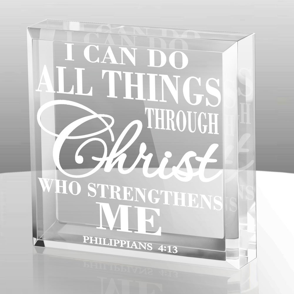 Kate Posh - Philippians 4:13 - I can do all things through Christ who strengthens me Keepsake & Paperweight by Kate Posh