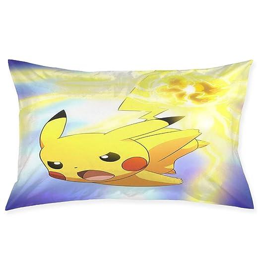 Greatbe Fundas de Almohada Throw Cute Pokemon - Pikachu ...