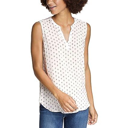 d9e72f00511ff Eddie Bauer Women s Sunrise Sleeveless Popover Shirt at Amazon Women s  Clothing store