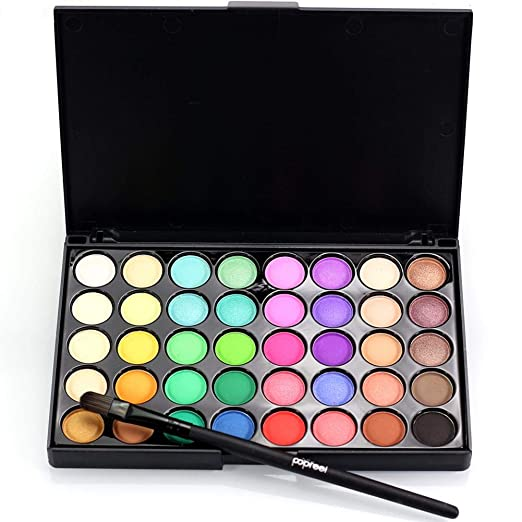 Eye Shadow Makeup Kit With Brush, 40 Colors Eyeshadow Make Up Waterproof Eye Shadow Palette Cosmetics Professional Eye Shadow Blendable Long Lasting Eyeshadow Palette Eye Shadow Palette Colors