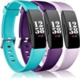 Wepro Bands Replacement Compatible with Fitbit Inspire HR/Inspire/Inspire 2/Ace 2 Fitness Tracker for Women Men, 3-Pack, Smal