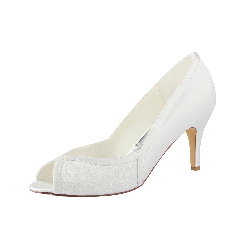 Emily Bridal Mutter Schuhe Seide Peep Toe Toe Toe Slip auf Brautschuhe Seide Hochzeit Schuhe 4f153c