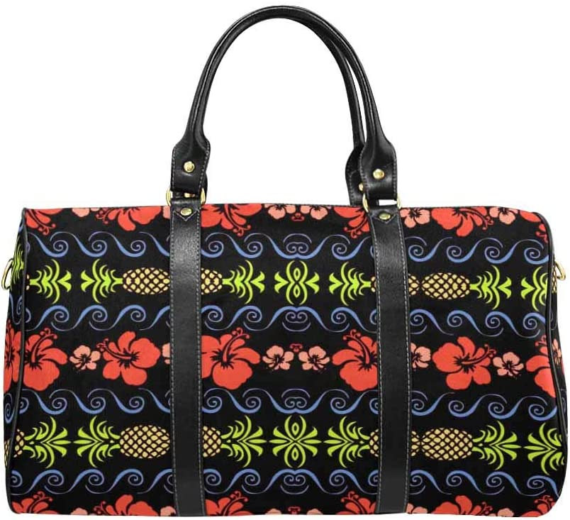 Flight Bag Gym Bag InterestPrint Hawaiian Print Pattern Large Duffel Bag