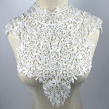 yulakes cuello de encaje insertar collar cuello decorar para vestido ...
