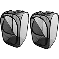 Flameer 2 Pcs Insect Monarch Butterfly Cage Grow Tent Pop-up Cage Housing Enclosure
