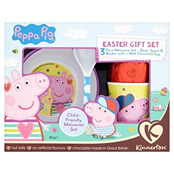 Amazon peppa pig 3 piece mealtime gift set with easter egg peppa pig 3 piece mealtime gift set with easter egg negle Image collections