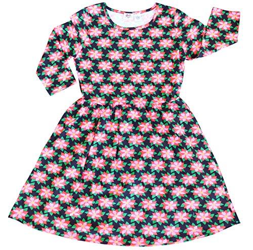 AnnLoren Dress Swing Poinsettia Women's Christmas Winter Floral rwrRC