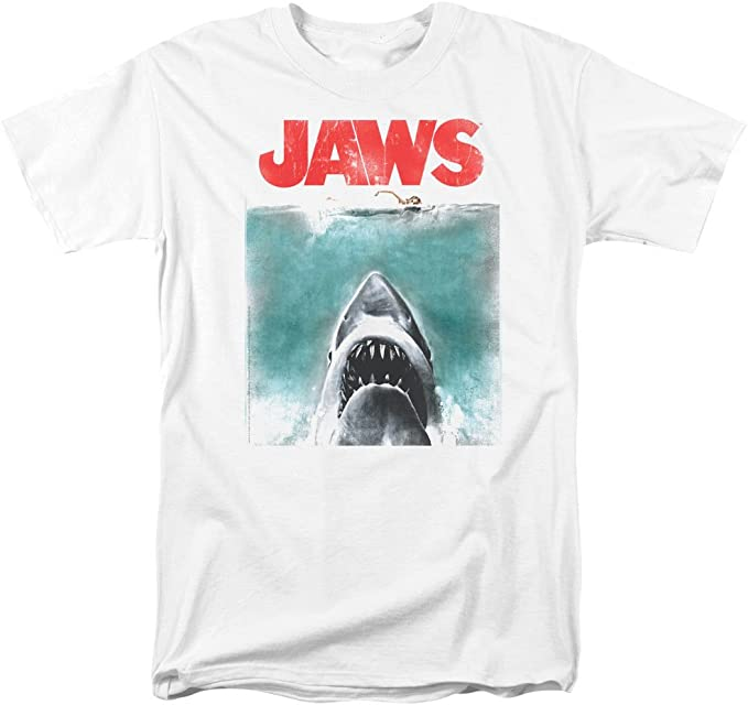 Jaws Poster Mens Sublimation Polyester Shirt WHITE