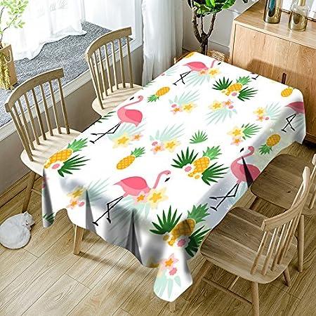 QWEASDZX Mantel Pequeño y Fresco Impresión Digital Mantel de Lino Anti-Manchas Mantel de Mesa Adecuado para Interiores y Exteriores Mantel Rectangular 140x180cm: Amazon.es: Hogar