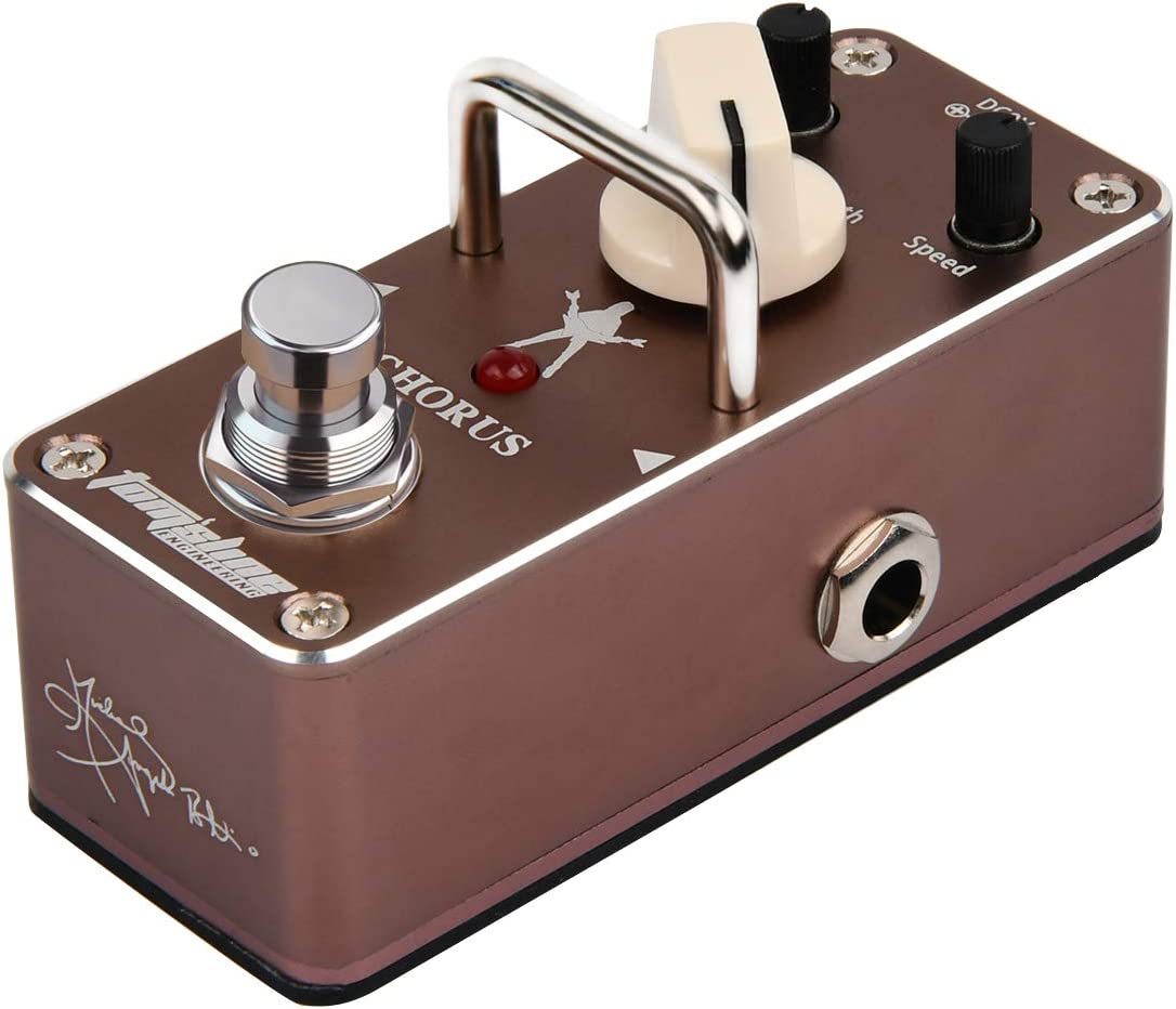 Michael Angelo Batio Signature, pedal de efecto para guitarra, marrón