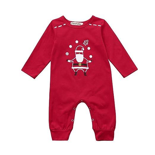 Amazon Com Baby Clothing Newborn Boys Girls Christmas Santa Romper