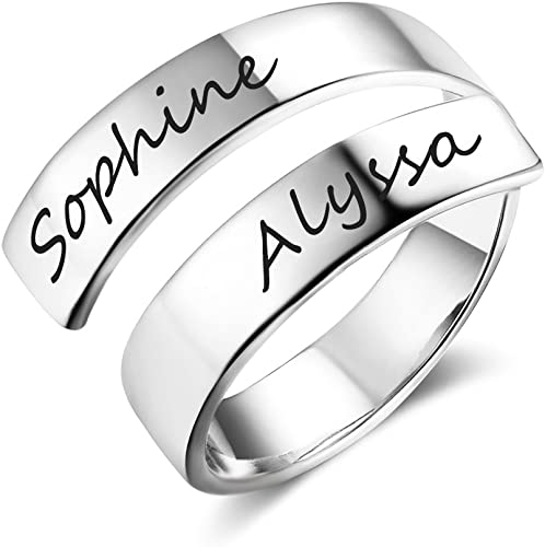 Amazon Com Love Jewelry Personalized Spiral Twist Ring Engraved