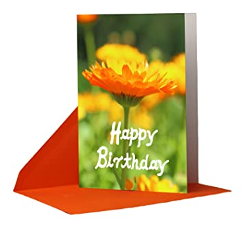 Tarjeta de regalo cumpleaños Flores - 1 Tarjeta cumpleaños ...