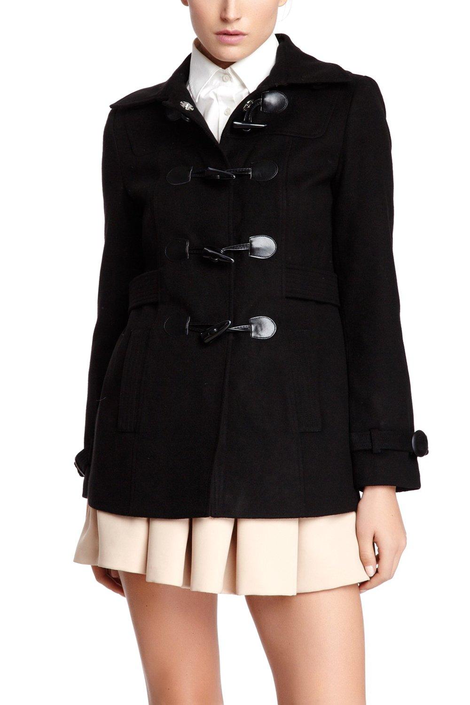 VERTIGO PARIS Women's Classic Duffle Style Toggle Coat - Black - X-Small